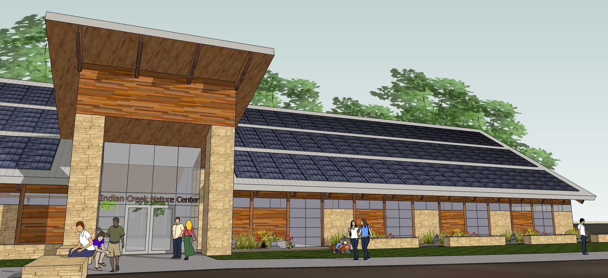 Indian Creek Nature Center<br>A Truly Net-Zero Amazing Space